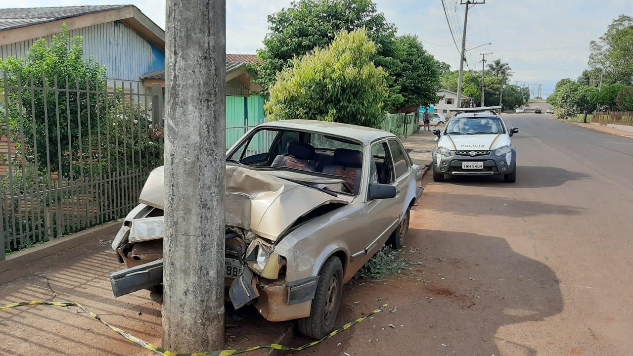 Acidente deixa vítima na rua Pedro Bambini em Espumoso