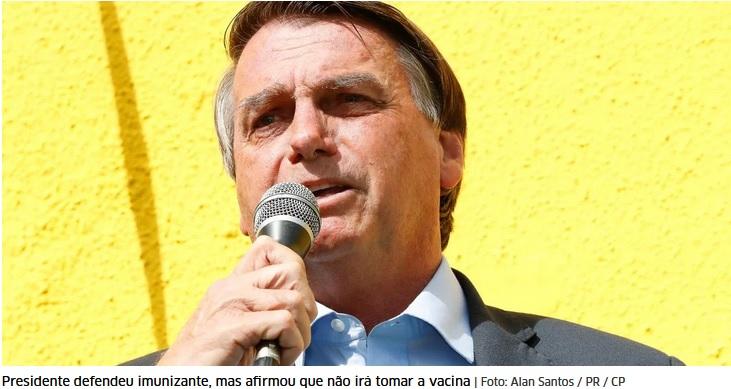 """""""Seja qual for, passou pela Anvisa, dou sinal verde para Saúde"""", diz Bolsonaro sobre vacina"""