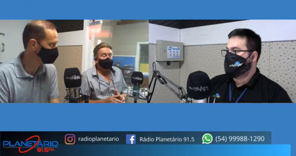 Entrevista com o Presidente do Sicredi Deonir José Cechele e o Diretor Executivo Carlos Augusto Dal Molin