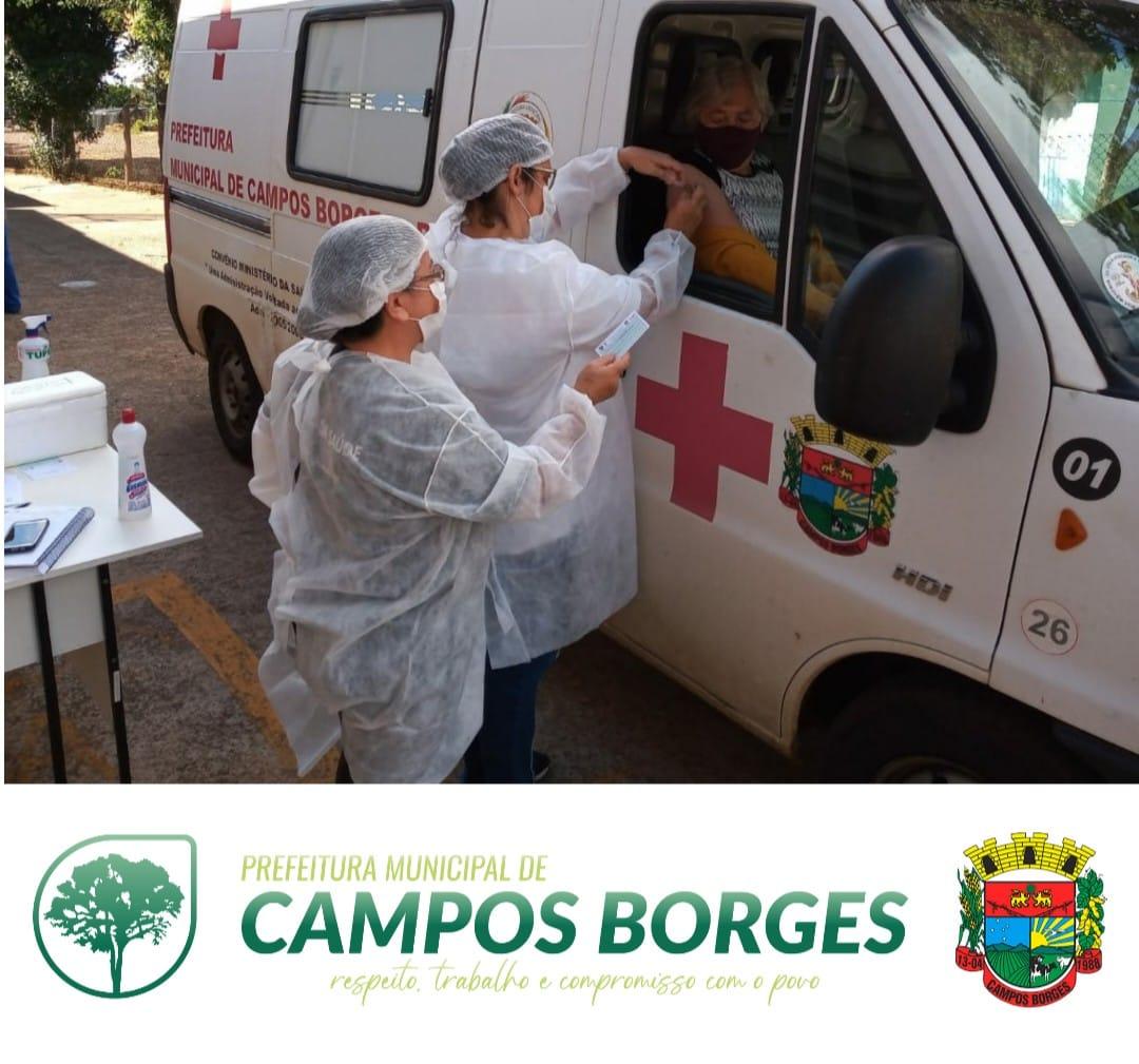 Sábado acontece mais uma etapa da vacinação para idosos em Campos Borges