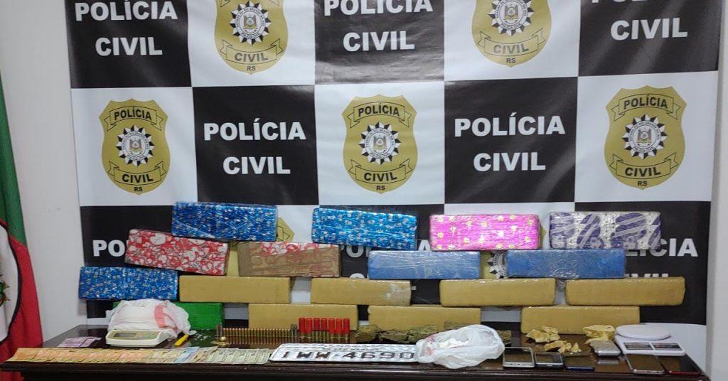 Polícia Civil faz apreensão de drogas recorde em Carazinho
