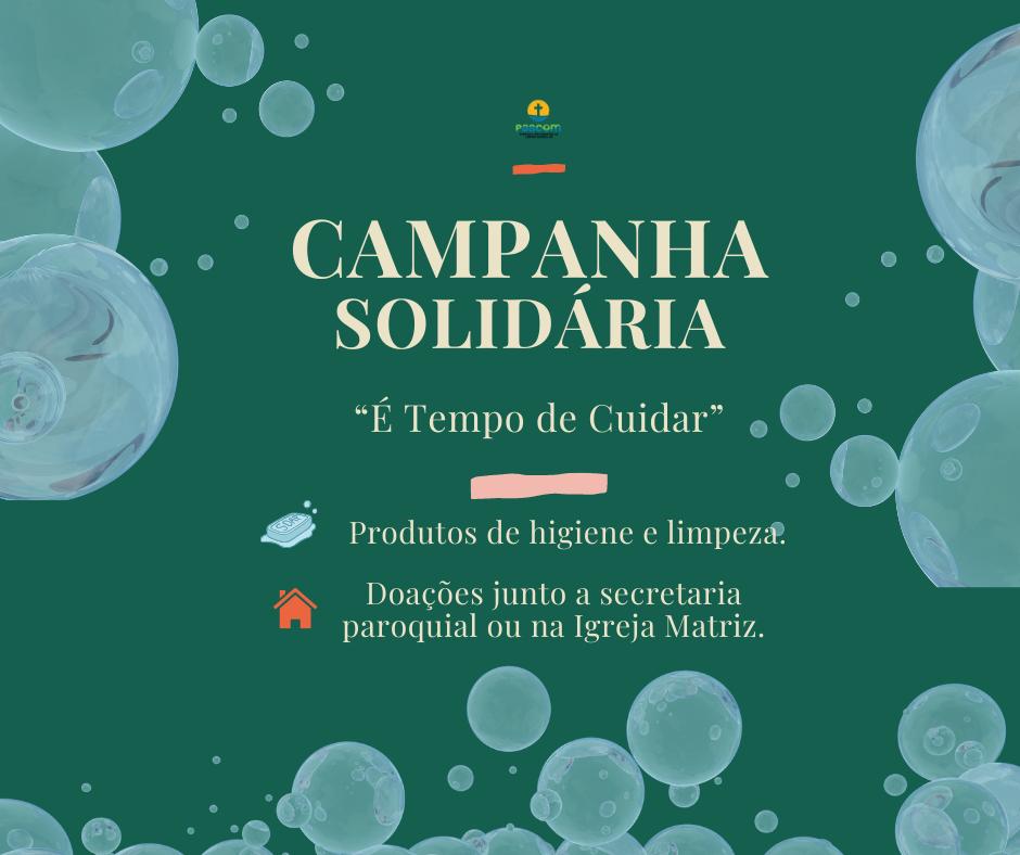 """Paróquia São Sebastião de Campos Borges inicia Campanha Solidária """"É tempo de Cuidar"""""""