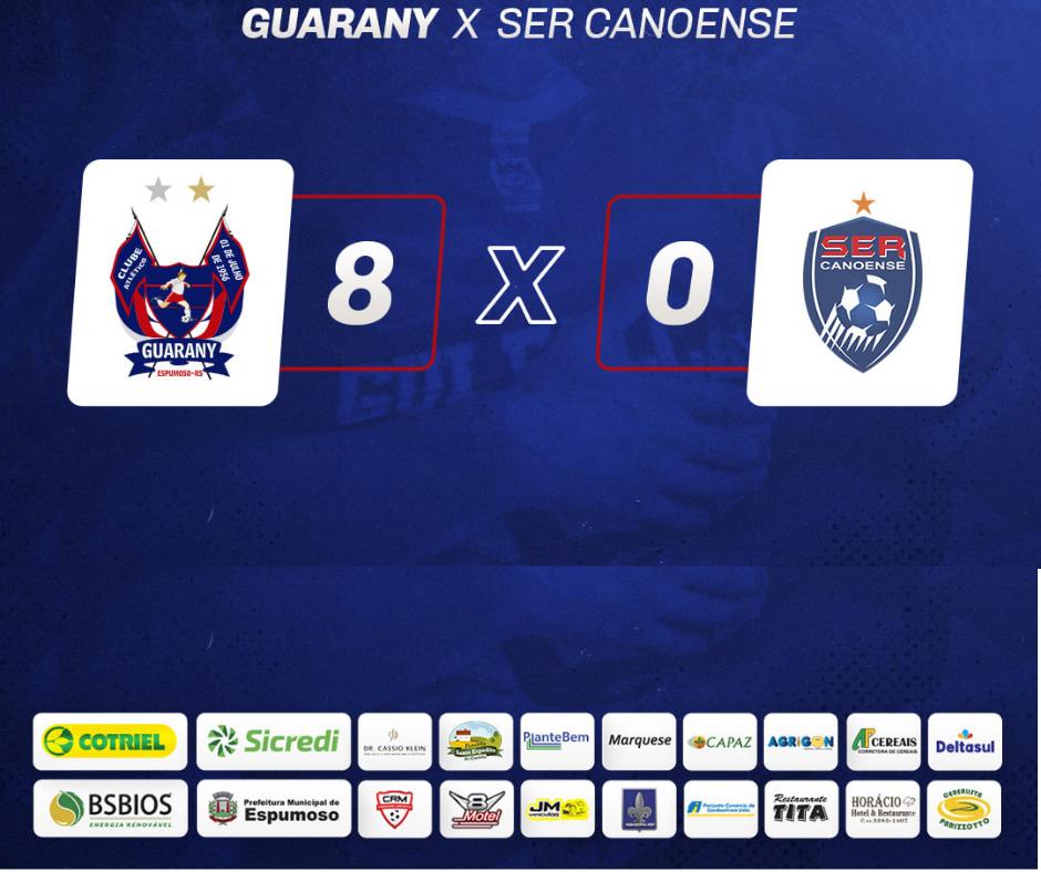 Guarany/Cotriel/Sicredi goleia a SER Canoense e vence a primeira no Gauchão de Futsal