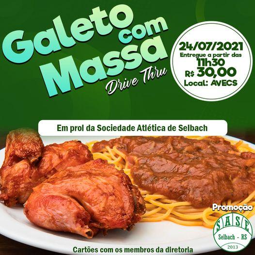 SASE  de Selbach promove galeto com massa dia 24/07