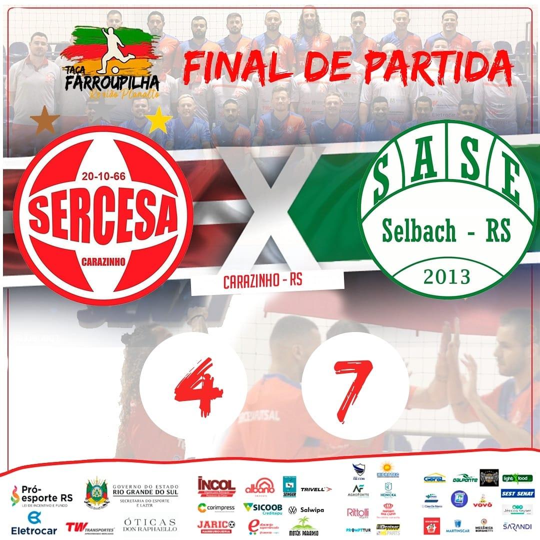 Sase derrota Sercesa fora de casa no primeiro jogo da da Taça Farroupilha Planalto