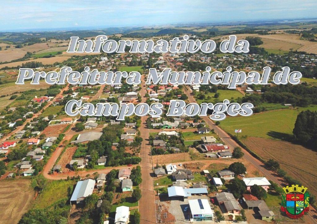 Informativo semanal da Prefeitura Municipal de Campos Borges