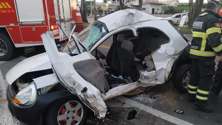 Homem fica gravemente ferido em colisão no trevo de acesso a Soledade