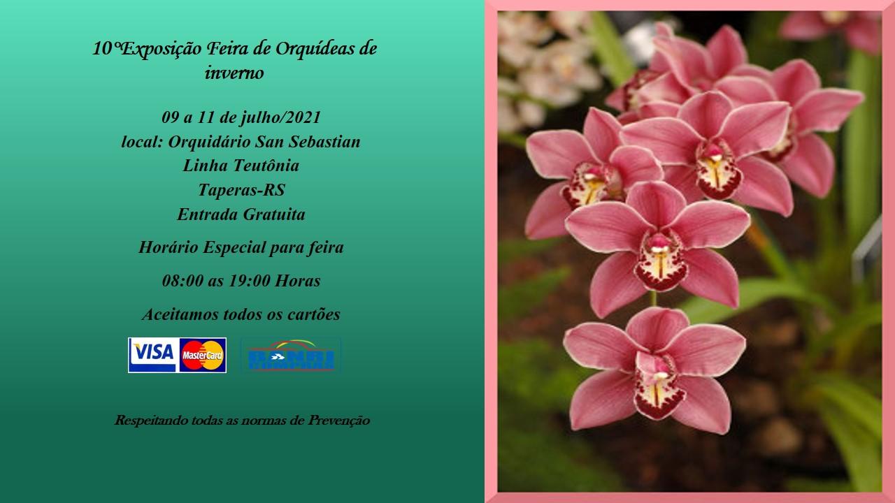 Orquidário San Sebastian de Tapera realiza neste fim de semana sua 10ª Exposição