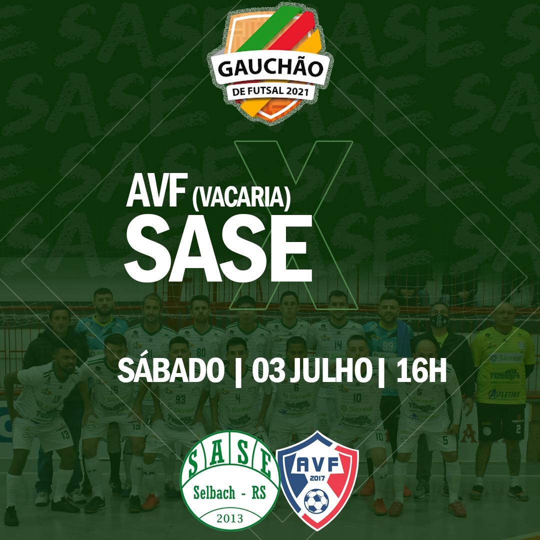 SASE de Selbach enfrenta a AVF neste sábado pelo Gauchão de Futsal