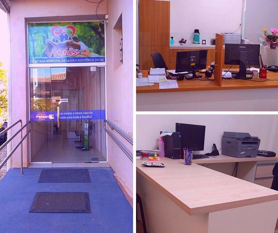 Secretaria de Saúde e farmácia da UBS central de Campos Borges recebem mobiliário novo