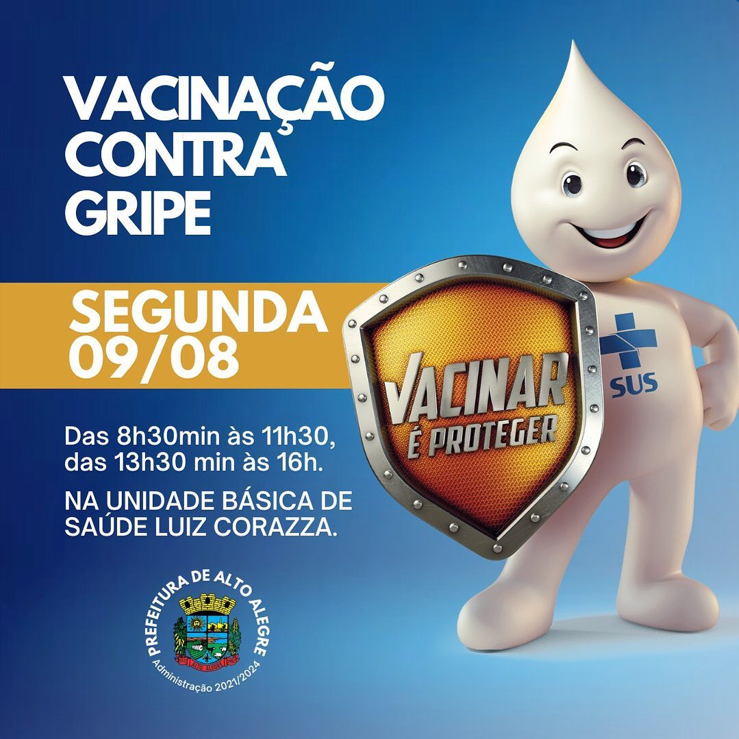 Dia D de Vacinação contra a Gripe acontecerá na segunda feira em Alto Alegre