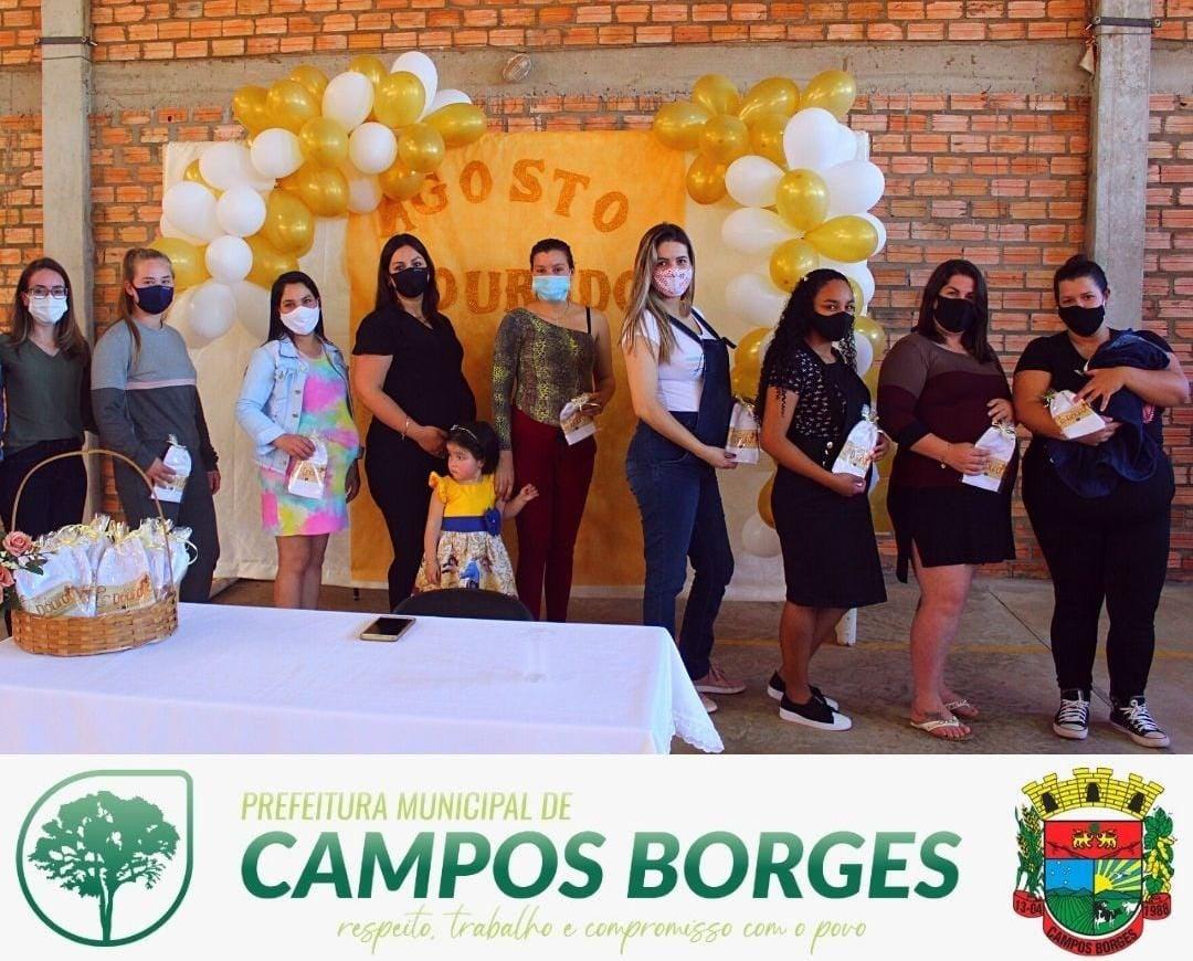 Secretaria da Saúde e Assistência Social encerram o Agosto Dourado em Campos Borges