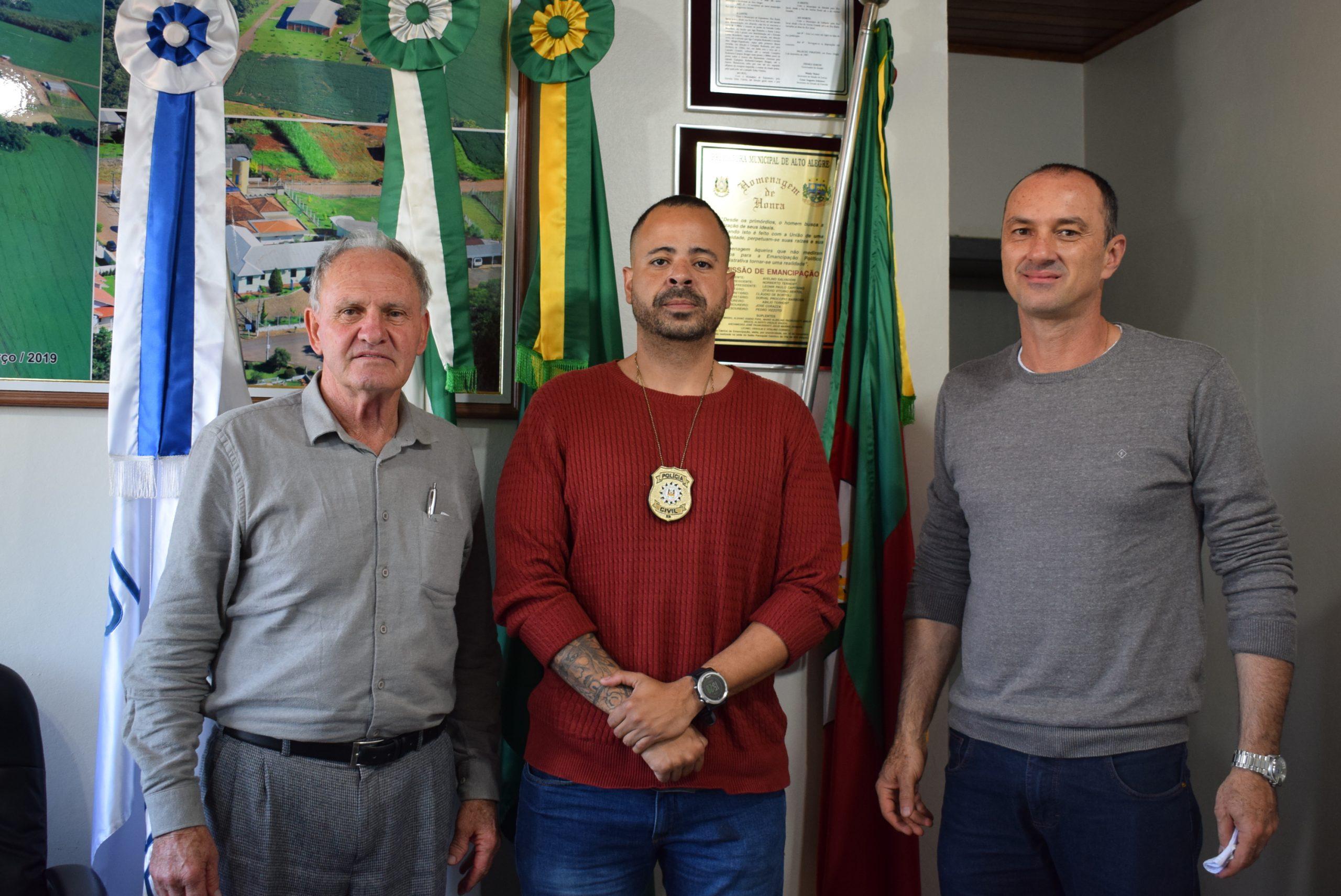 Novo Delegado de Espumoso visita Alto Alegre