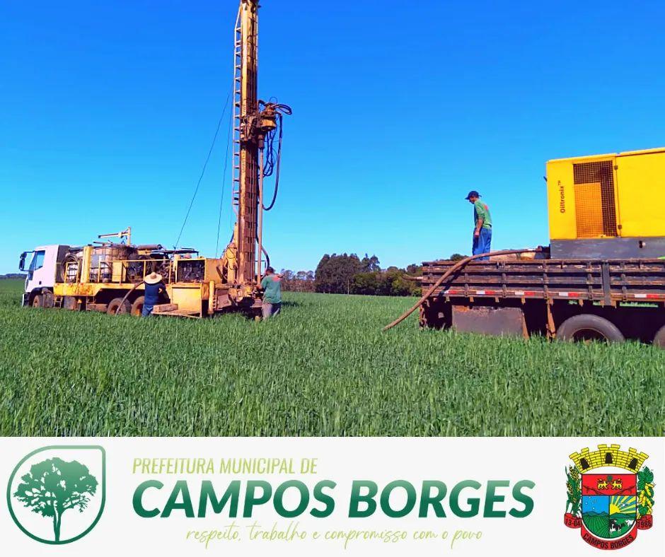 Administração Municipal de Campos Borges realiza sondagem para instalação de Cascalheira
