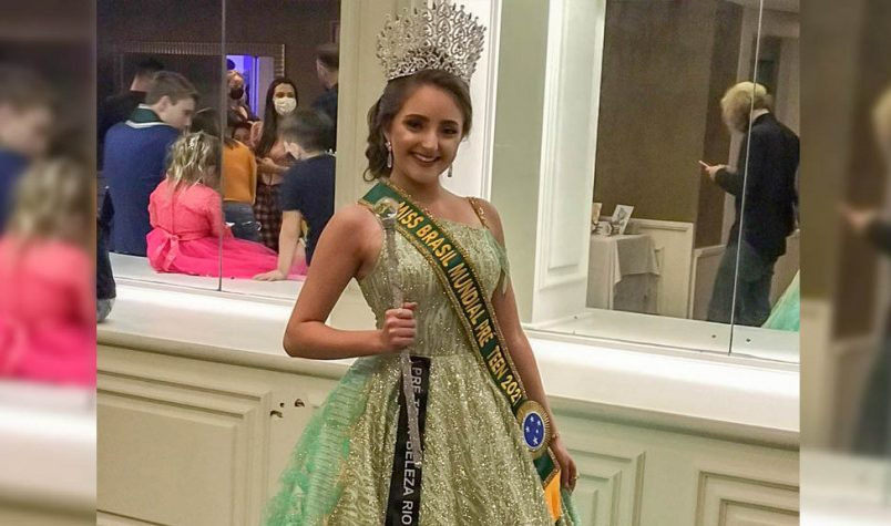 Isadora Aguirres Sartori é eleita Miss Brasil Mundial Pré Teen 2021