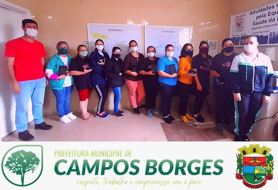 Equipe de Agentes de Saúde modernizam atendimento em Campos Borges