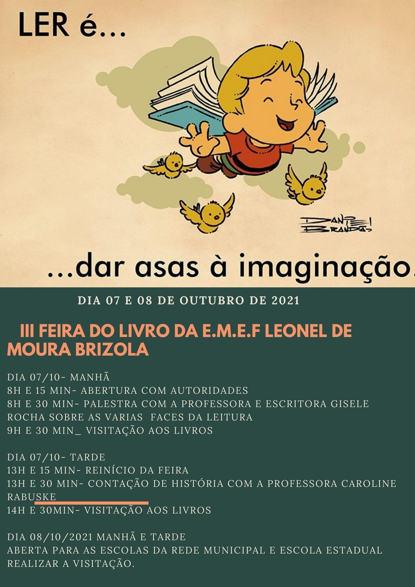 Escola Municipal de Ensino Fundamental Leonel de Moura Brizola promoverá III Feira do Livro em Jacuizinho