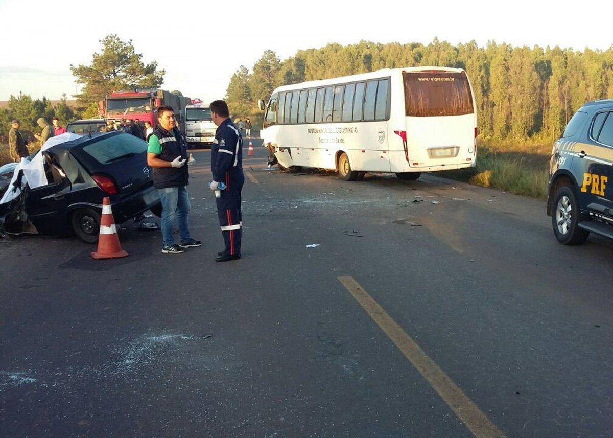 Morre segunda vítima de acidente envolvendo micro-ônibus da prefeitura de Júlio de Castilhos