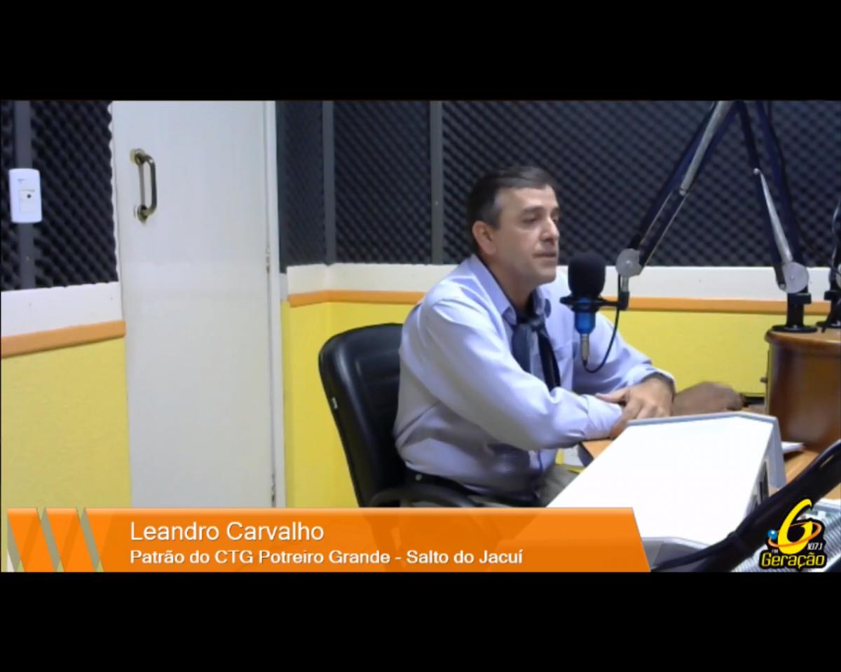 Novo Patrão do CTG Potreiro Grande, Leandro Carvalho
