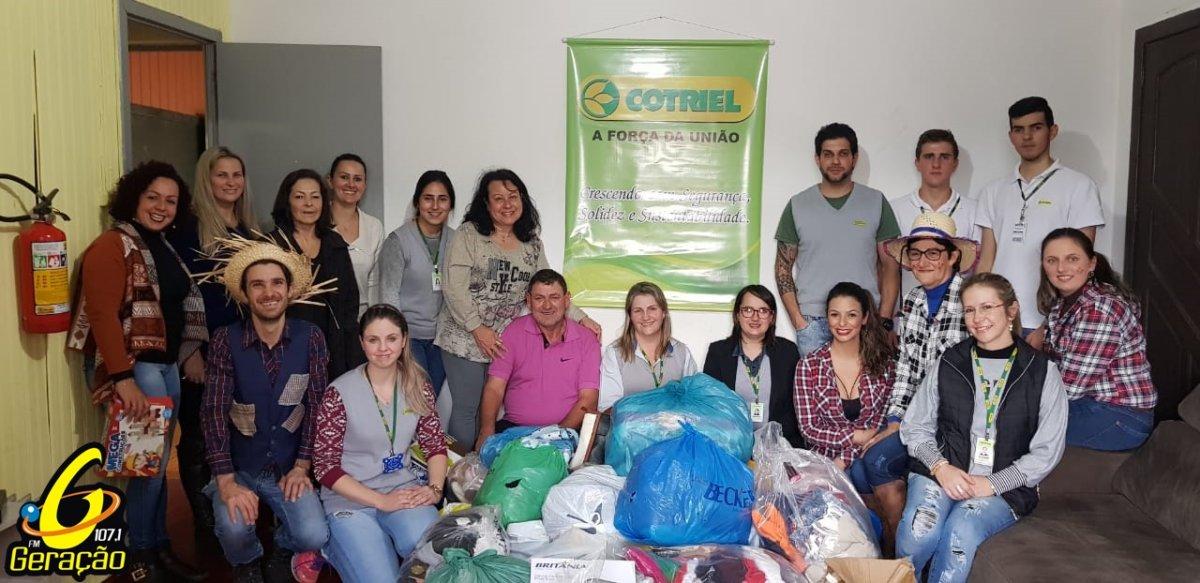 Centro Municipal de Referência da Criança e do Adolescente recebe doações da Cotriel em Salto do Jacuí