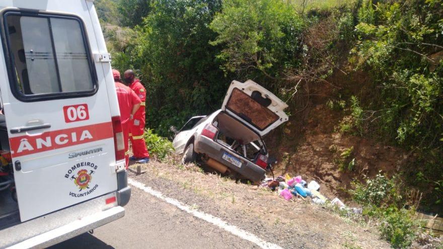 Acidente deixa três pessoas feridas na ERS-347 entre Sobradinho e Ibarama