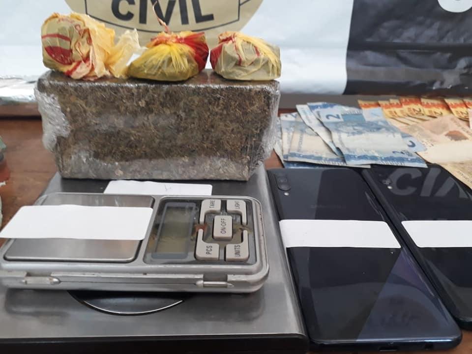 Polícia Civil de Sobradinho prende em flagrante suspeitos de tráfico de drogas  e associação para o tráfico