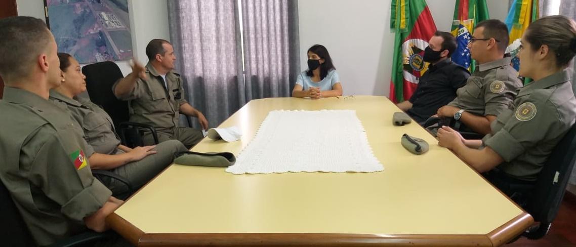 Brigada Militar de Campos Borges recebe três novos Soldados