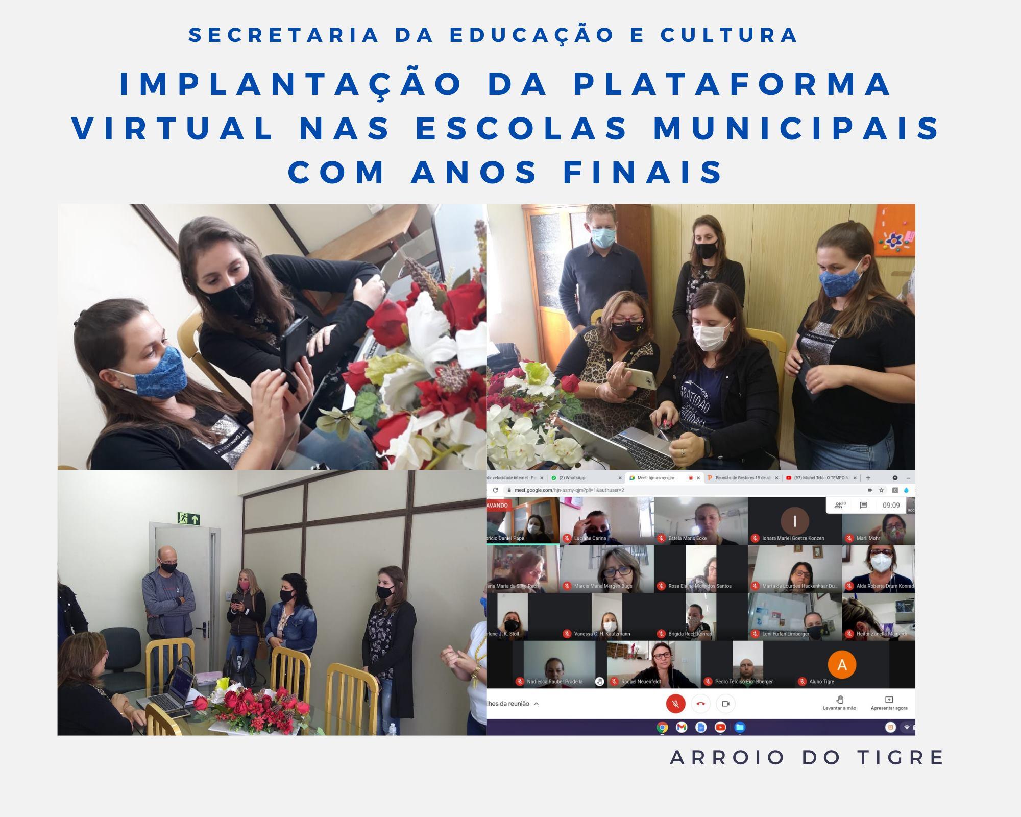 SMEC realiza cronograma para a implantação da plataforma virtual nas escolas de Arroio do Tigre