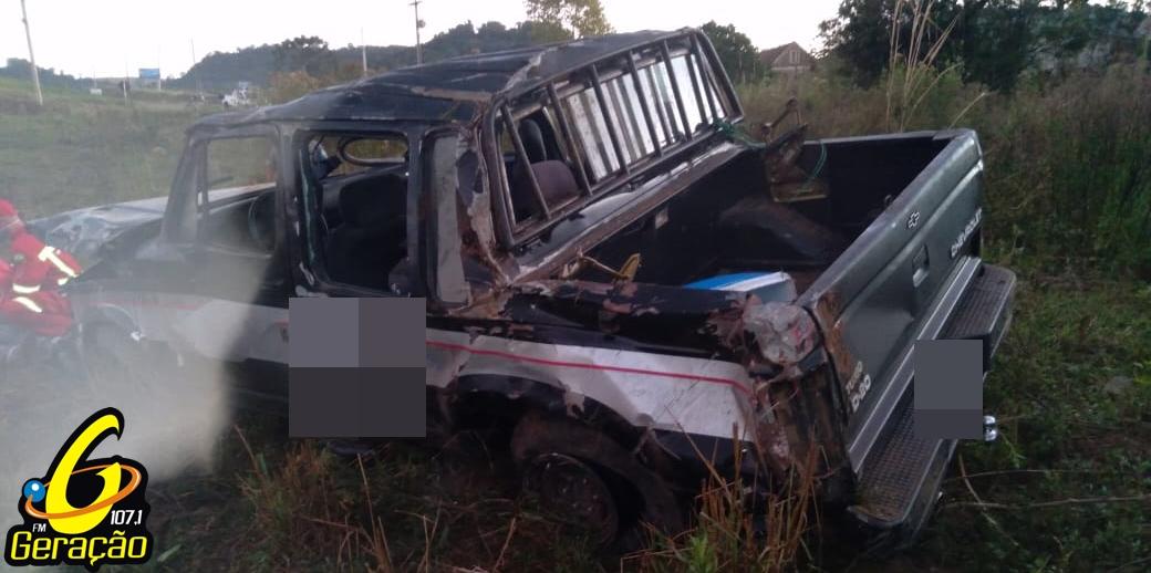 Duas pessoas ficam feridas em acidente  na RSC 481 em Arroio do Tigre