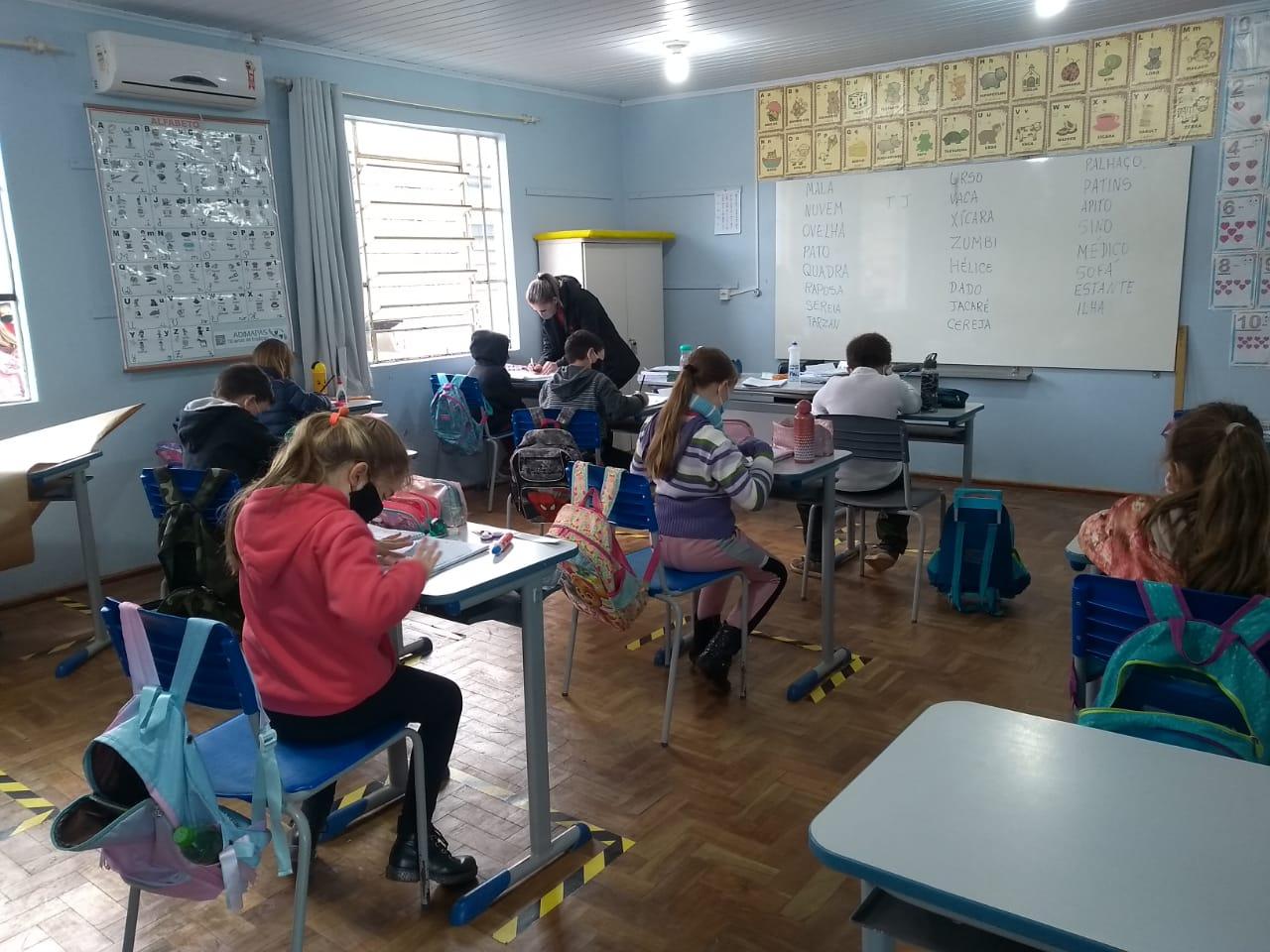 Retorno das aulas presenciais em Lagoa Bonita do Sul completa uma semana