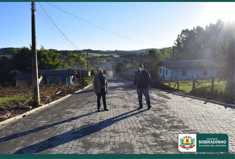 Mais uma pavimentação de Rua foi concluída em Sobradinho