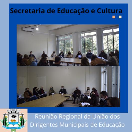 Secretário participa da reunião regional da União dos Dirigentes Municipais de Educação