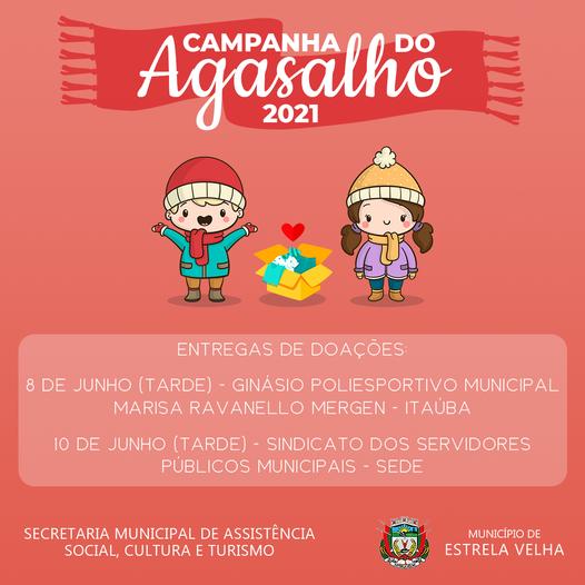 Campanha do agasalho em Estrela Velha segue nesta terça-feira