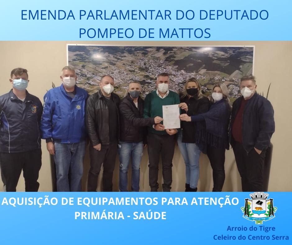 Emenda do deputado federal Pompeo de Mattos beneficia a atenção primária da saúde municipal