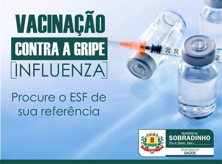 Sobradinho recebe novas doses de vacina contra a influenza
