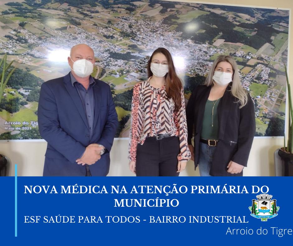Nova médica compõe quadro de profissionais da Secretaria da Saúde de Arroio do Tigre