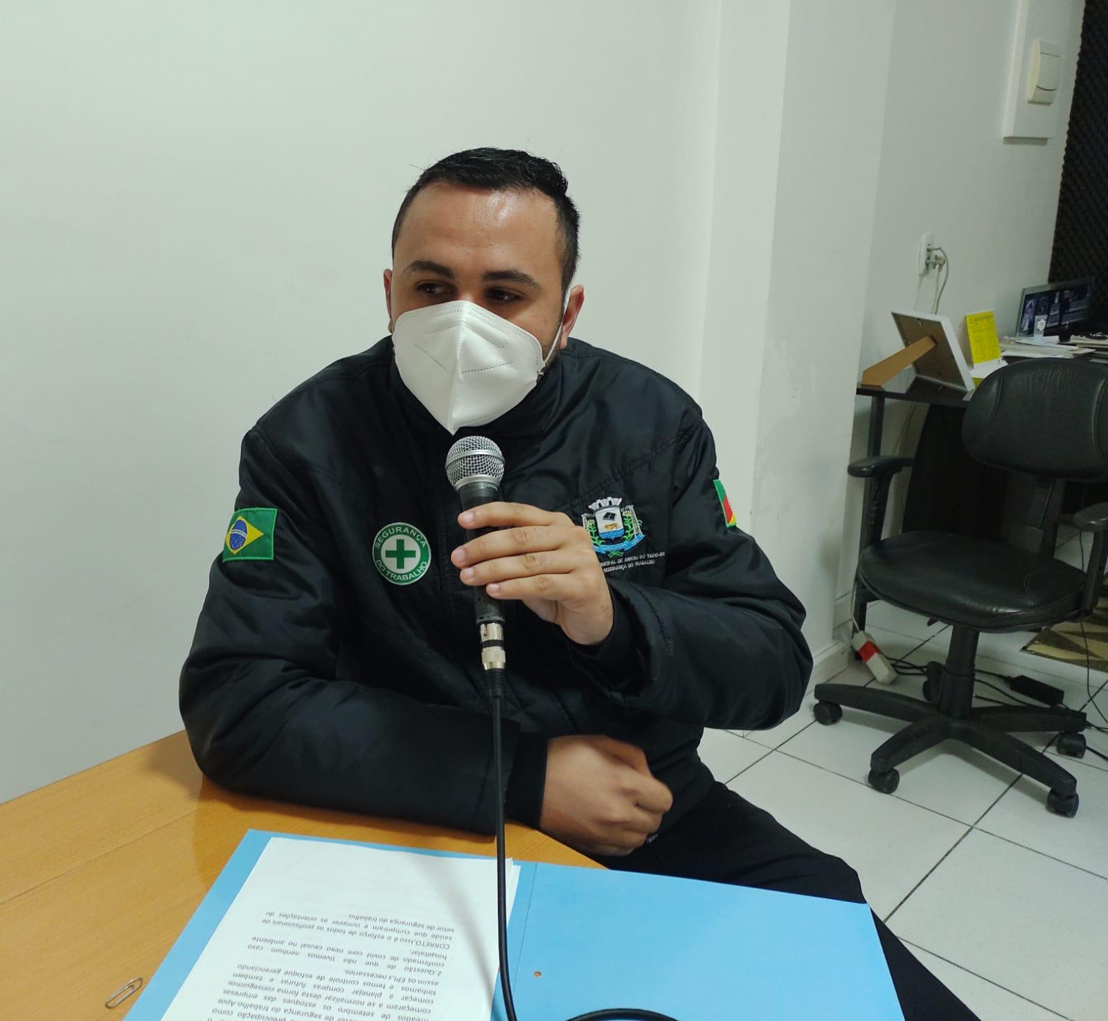 Técnico em Segurança do Trabalho destaca ações e treinamento de prevenção ao coronavírus nas repartições públicas de Arroio do Tigre