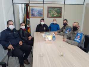 Vice-prefeito de Jacuizinho realiza reunião com a Brigada Militar