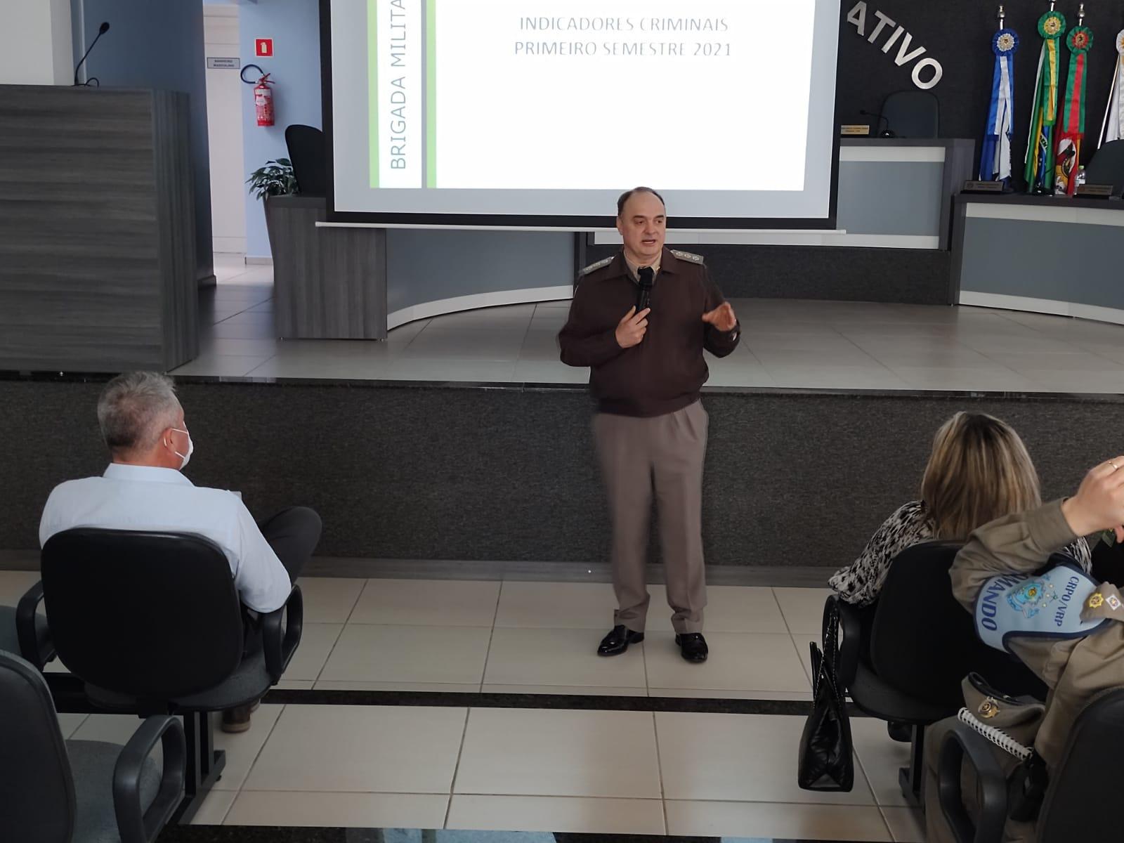 Comando Regional de Polícia Ostensiva trata do Programa de Vigilância Colaborativa no Centro Serra