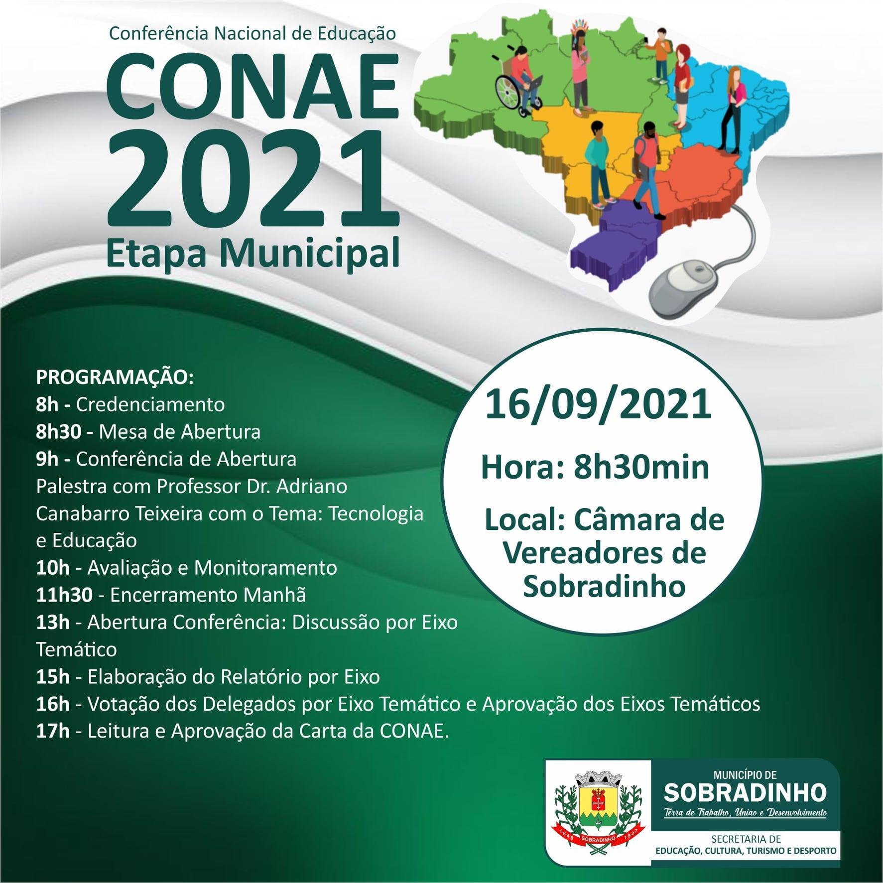 Conferência Nacional de Educação será nesta quinta-feira em Sobradinho