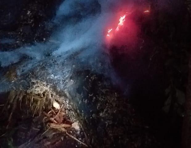 Bombeiros Voluntários de Arroio do Tigre são chamados para apagar fogo em Linha Rocinha