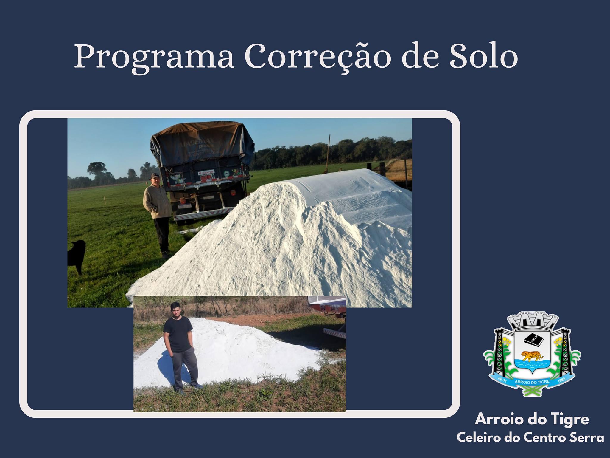 Administração de Arroio do Tigre entrega 1.980 toneladas de calcário para 132 propriedades