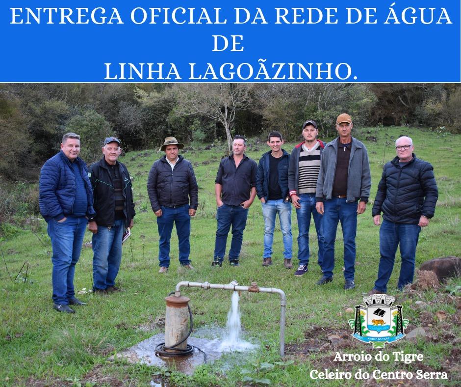 Administração de Arroio do Tigre entrega rede de água para comunidade de Lagoãozinho