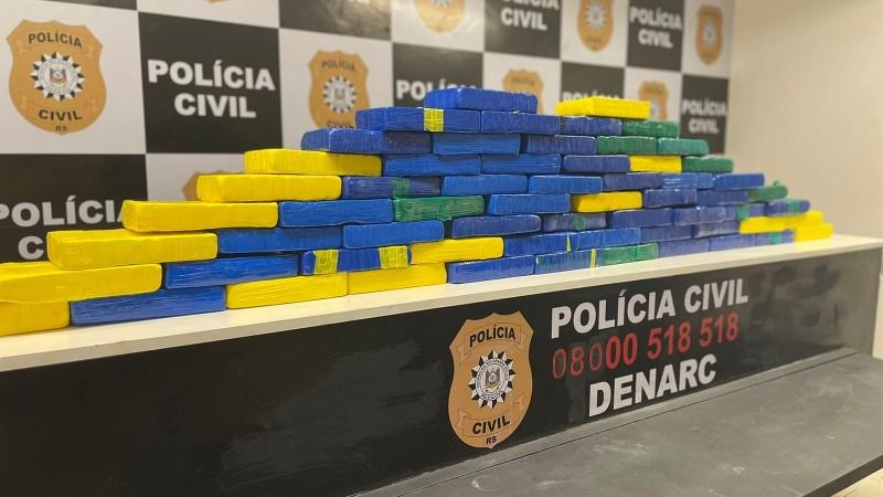 Polícia Civil apreende 65kg de cocaína após abordagem em pedágio de Candelária
