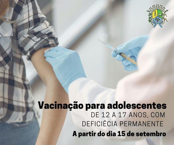 Salto do Jacui vacina adolescentes de  12 a17 anos com comorbidades