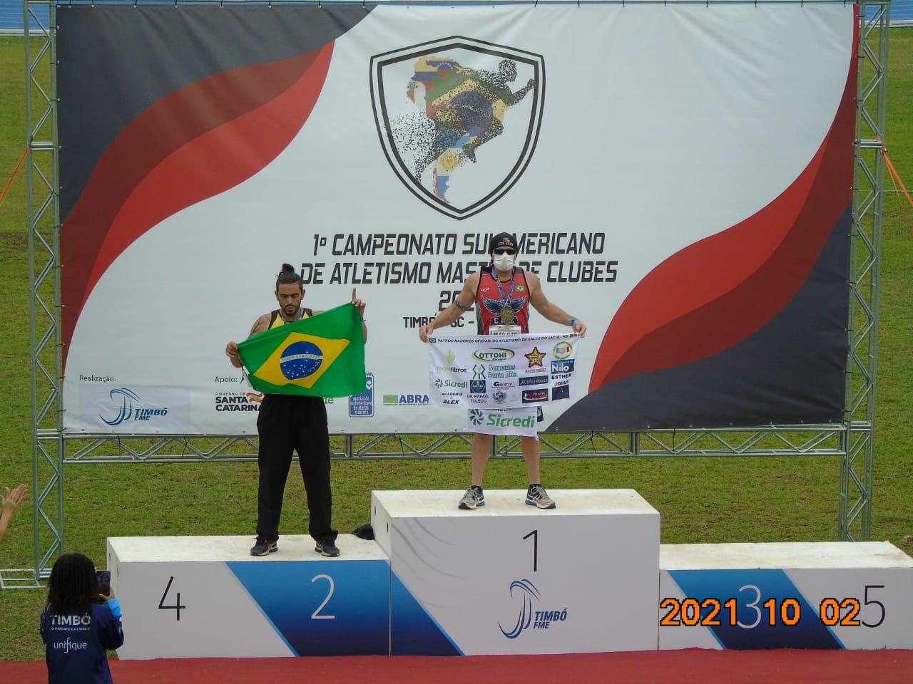 Michel Berti Goi é campeão Sulamericano de Atletismo Máster