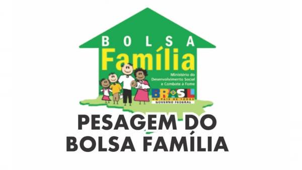 Salto do Jacuí: Pesagem dos integrantes do Bolsa Família nos dias 14 e 15 de outubro