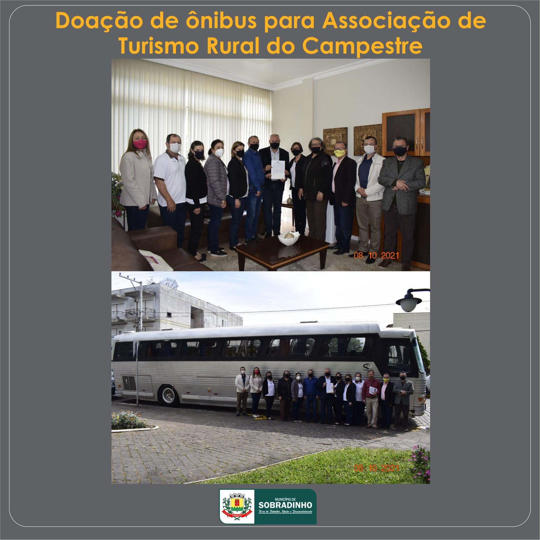 Sobradinho doa ônibus para Associação de Turismo Rural do Campestre