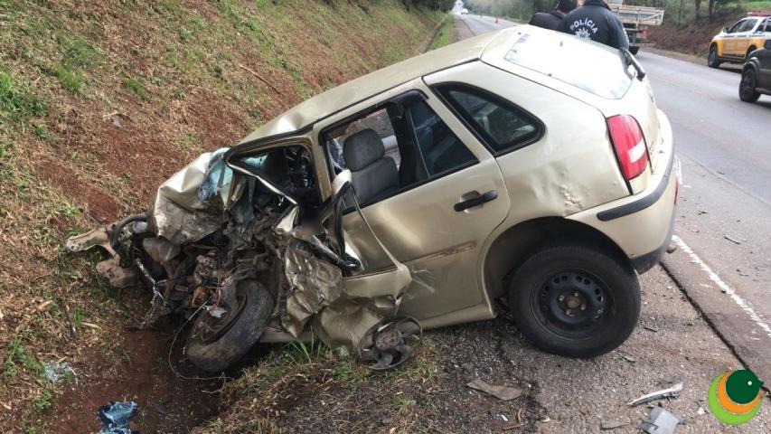 Morre condutor de Gol de Soledade em colisão na ERS 153, entre Passo Fundo e Ernestina