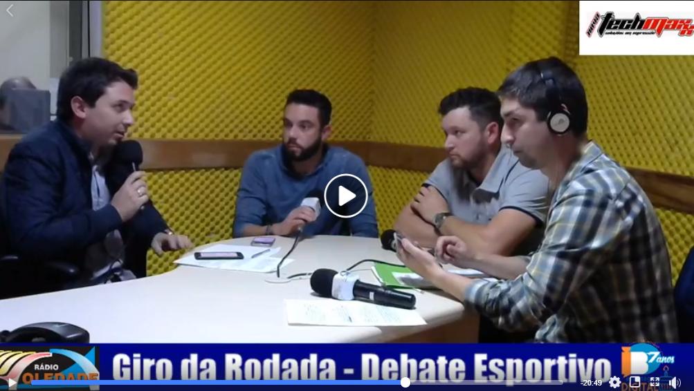 GIRO DA RODADA – DEBATE ESPORTIVO – 17/09/18